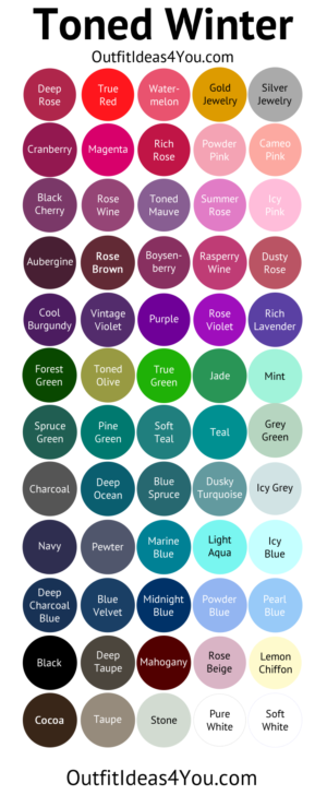 Toned Winter Color Palette (Soft Winter | Clothing and ...
