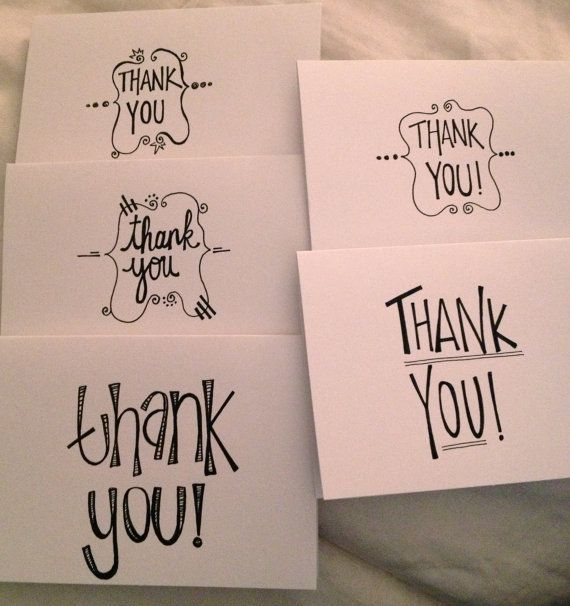 Handwritten Thank You Cards  Fonts Lettering  Typography
