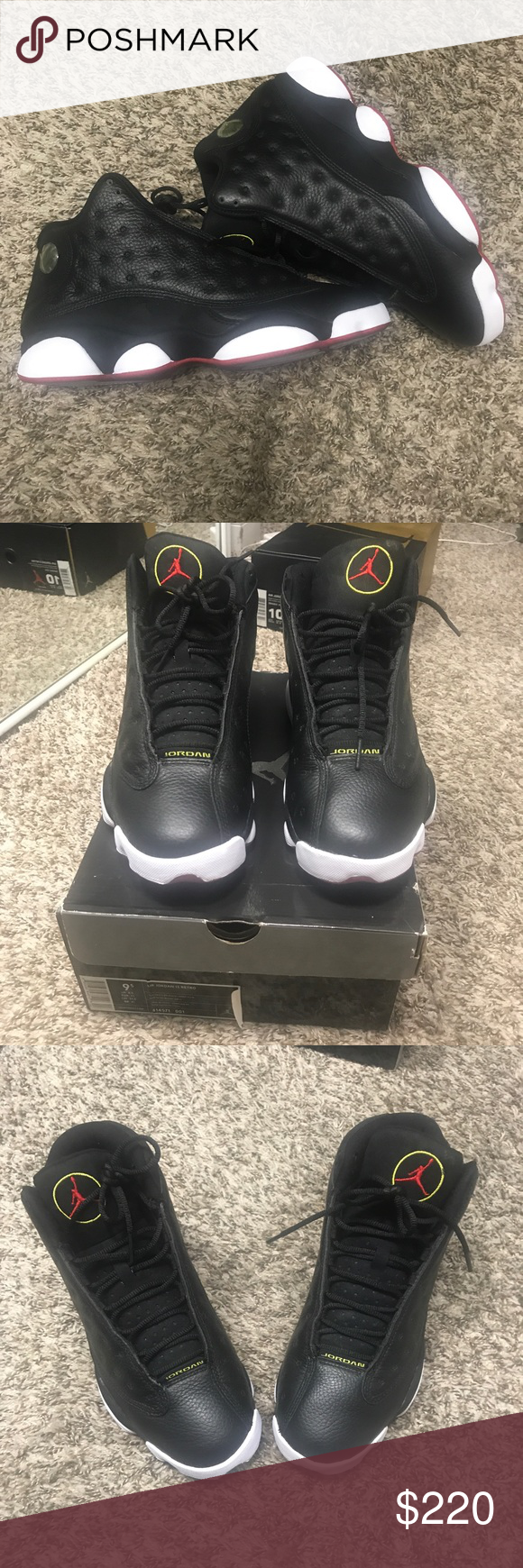 premium selection 72321 25364 Air Jordan Retro 13 playoffs Rolling authentic Air Jordan Retro 13 in men s sz  9.5. Comes with og box and receipt Air Jordan Shoes Sneakers