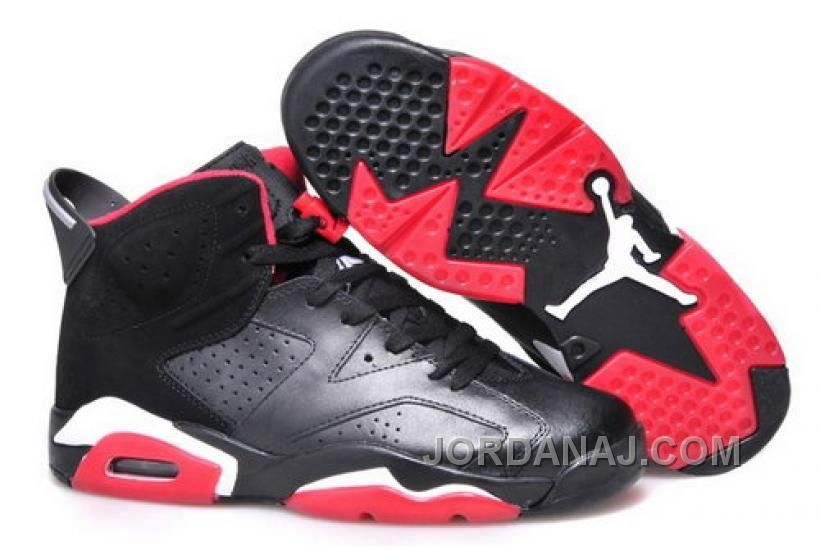 a6aee1013131a3 GERMANY NIKE AIR JORDAN VI 6 RETRO WOMENS SHOES HOT NEW BLACK RED WHITE Only   97.00