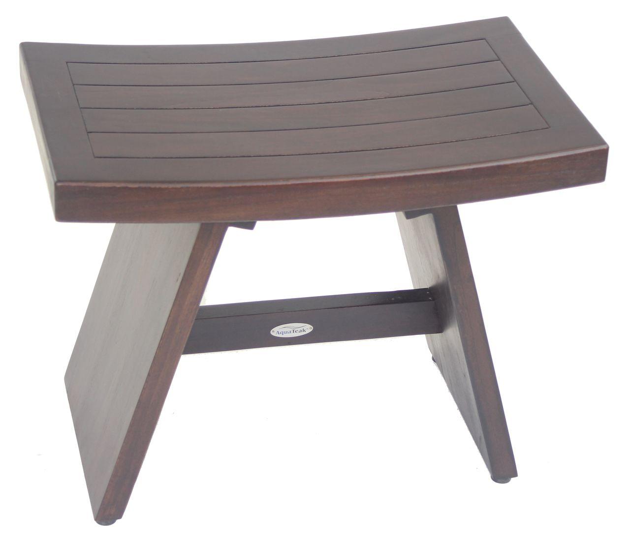 Aqua teak 24 asia mocha teak shower bench 14995