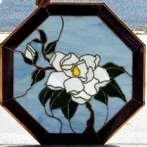 Stained Glass magnolia octagon