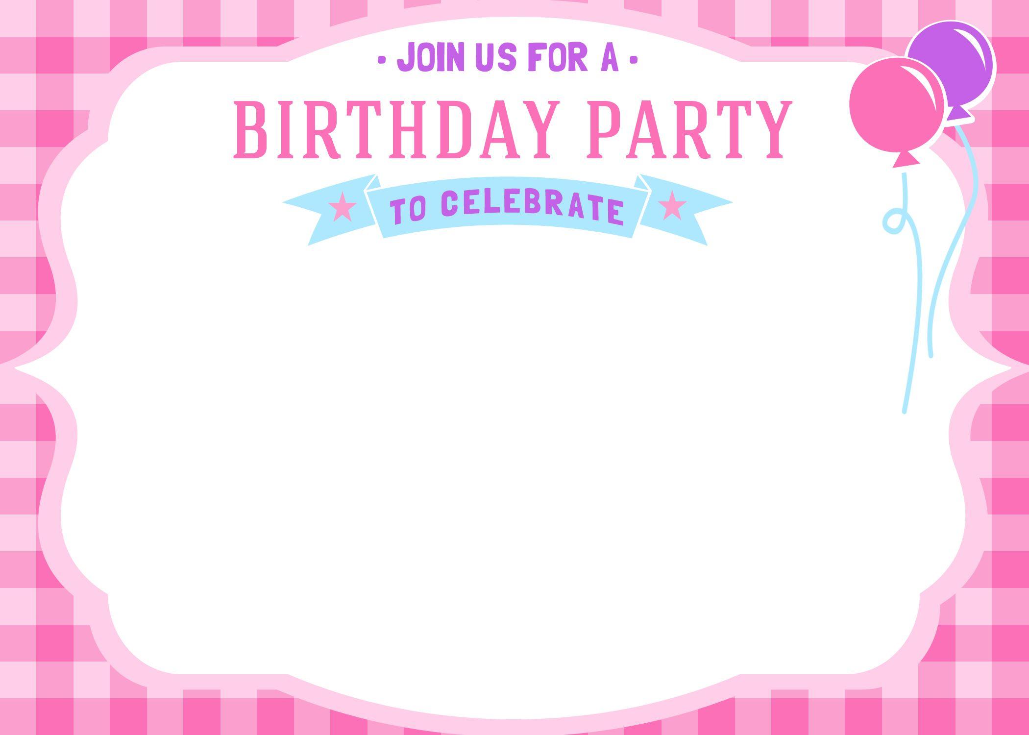 Free Free Printable Girls Birthday Invitations | FREE Printable ...