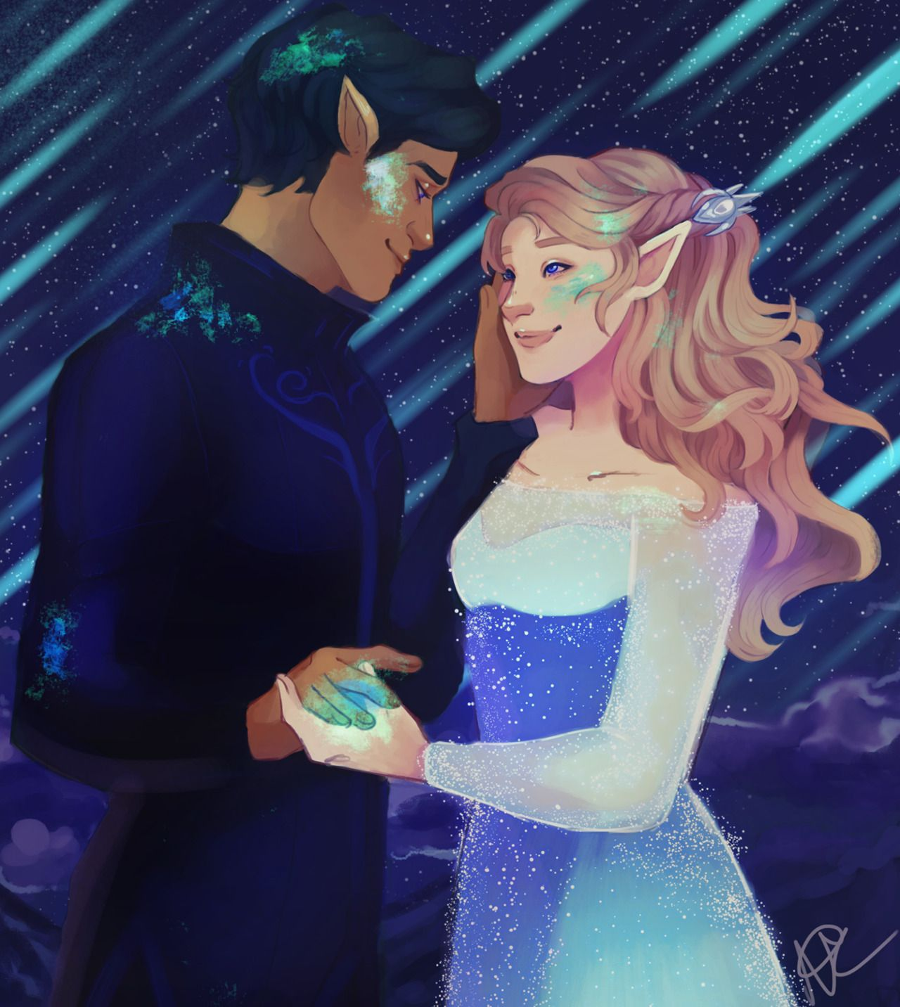 Credit Curlys Art Blog Feysand Starfall A Court Of Thorns And