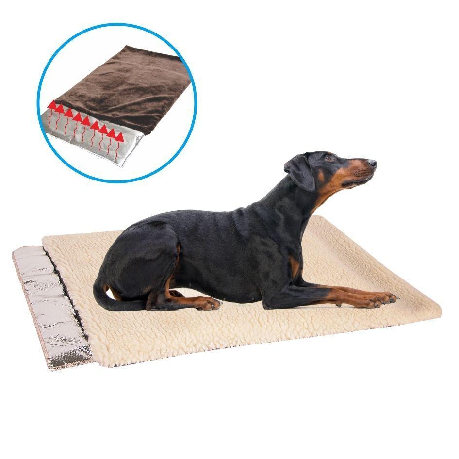 Self Warming French Vanilla Waterproof Soft Faux Wool Pet Sleeper Cushion - Extra, Beige