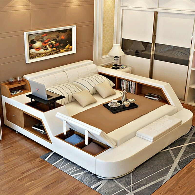 That Has To Be One Of The Coolest Beds I Have Ever Seen Truly An All In One Luxurious Bedrooms Luxury Bedroom