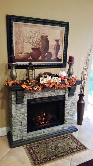 Home Decorators Collection Highland 50 In Faux Stone Mantel Electric Fireplace In Gray 103058 The Home Depot Stone Mantel Home Decorators Collection Fireplace