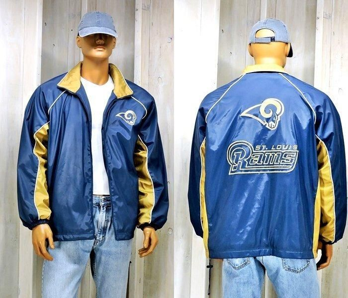 timeless design ddcd2 597ab 90s St Louis Rams Starter Jacket mens L / LA Rams | For the ...