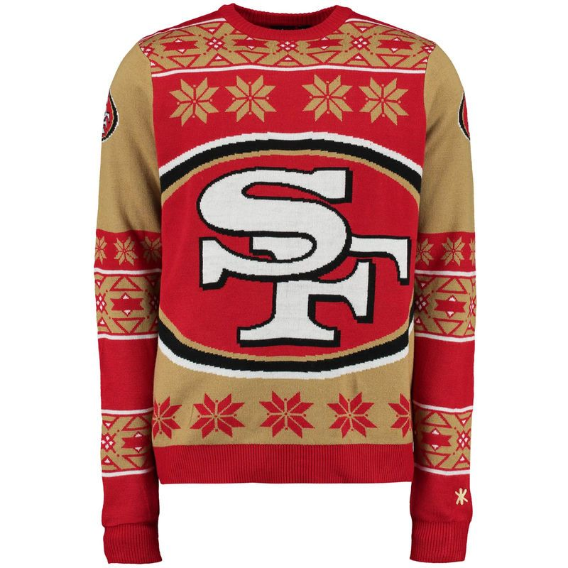 San Francisco 49ers Klew Big Logo Ugly Sweater Scarlet Products