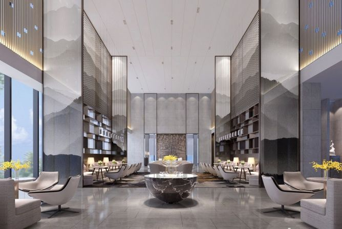 Rest area sales office restaurant center interior design room lobby lounge hotel interiors also pin by qiao er on pinterest household and modern rh