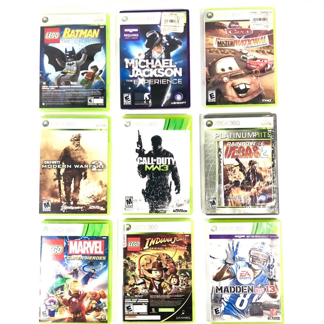 Lot of 9 Xbox 360 games Great Condition Lightly Used Lego