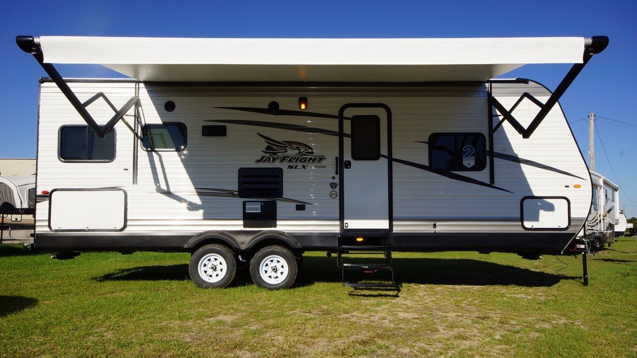 Adventure On Your Terms 2017 Jayco Jay Flight Slx 245rlsw Camp In The Desert With The 13 5k Btu Air Conditioner T Rvs For Sale Travel Trailers For Sale Jayco