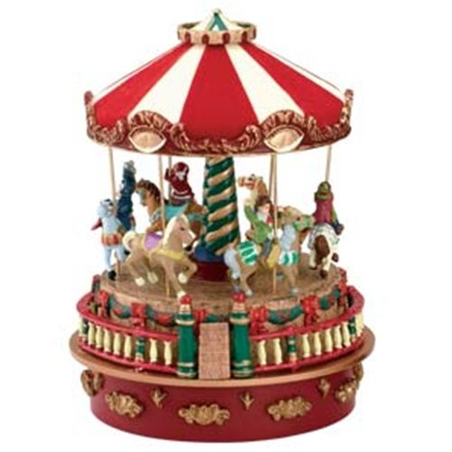 MR CHRISTMAS MINIATURE CARNIVAL MUSIC BOXES - Carousel #19801 - christmas carousel decoration