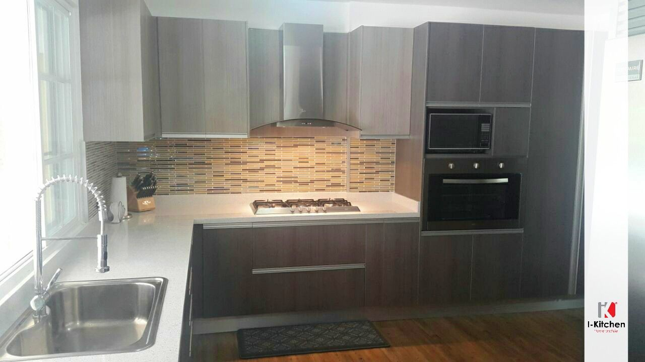 Espectacular cocina con empotrado de horno y microondas kitchen pinterest horno cocinas y - Microondas de empotrar ...