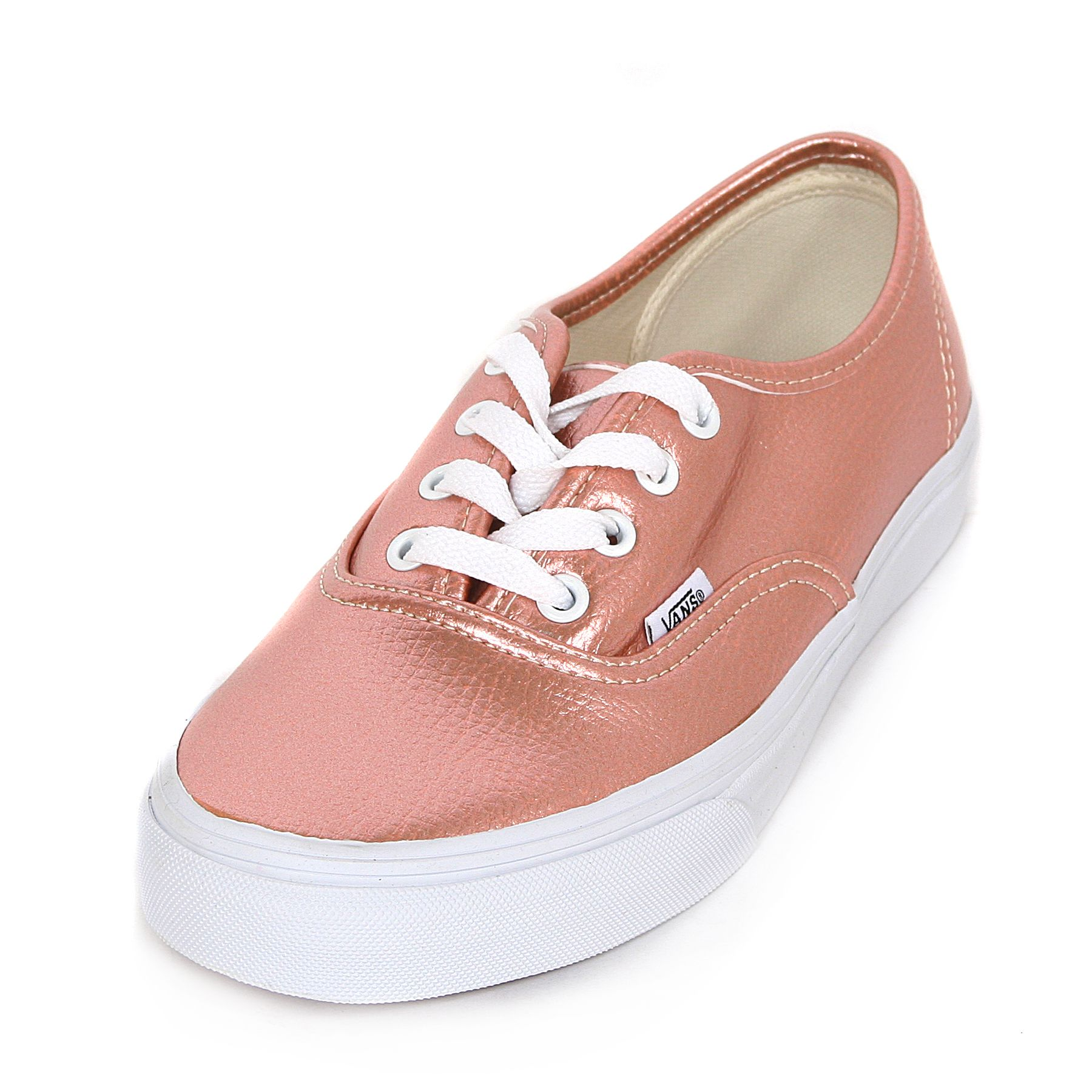 216e07a497158a Shine in these Vans Authentic Glitter Leather Rose Gold trainers ...