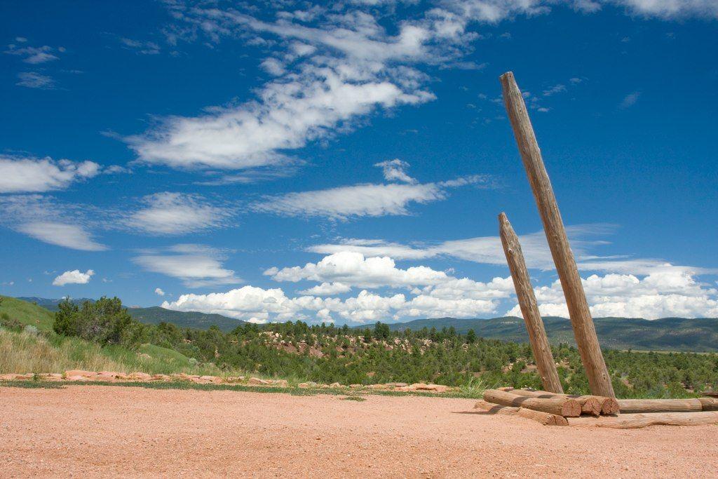 Native American settlement ruins near Santa Fe, NM