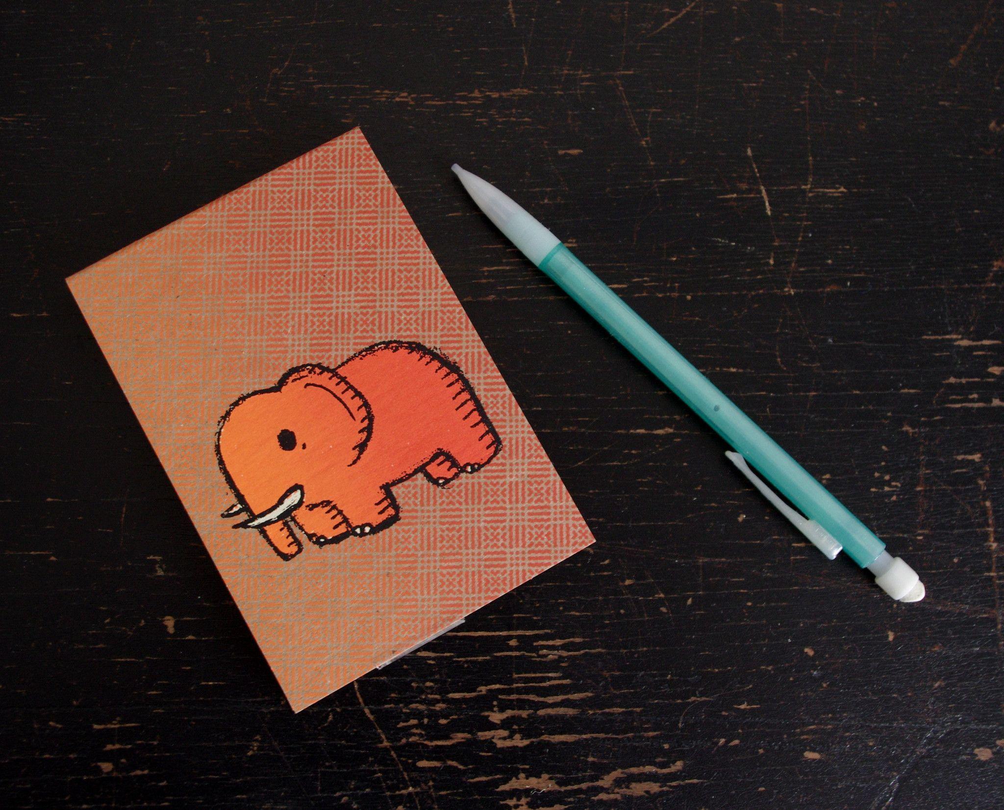 elephant mini sketchbook