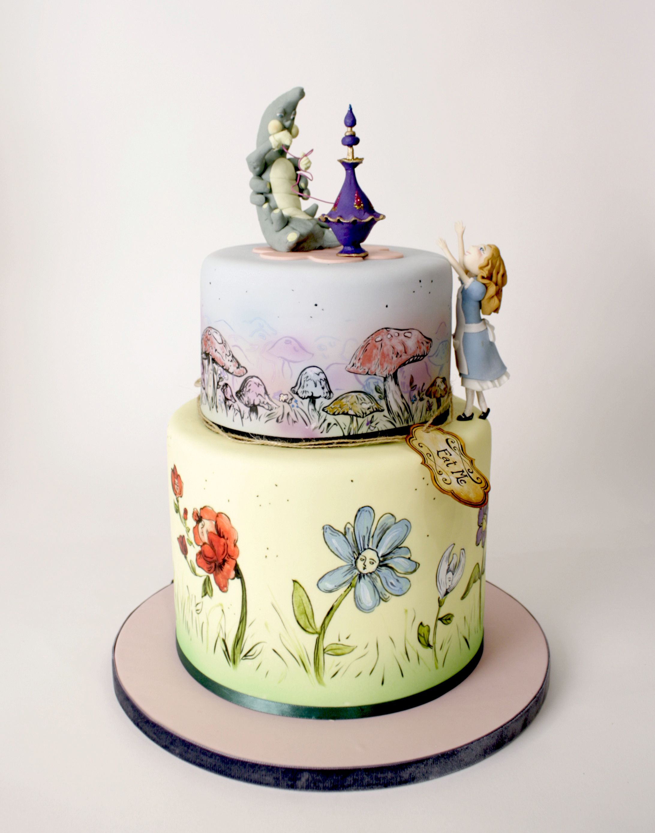 Charm City Cakes   This Alice In Wonderland Inspired Two Tier Cake Is  Perfect For