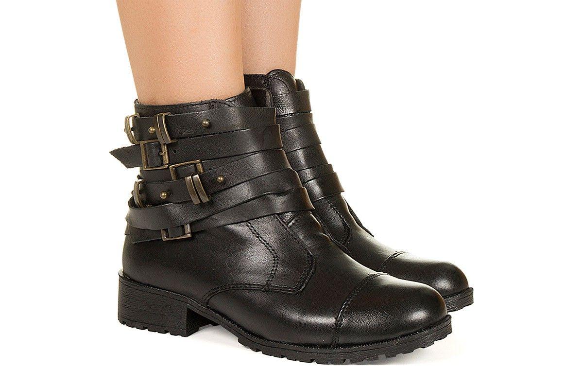 04403b012 Coturno preto com fivelas Taquilla - Taquilla - Loja online de sapatos  femininos