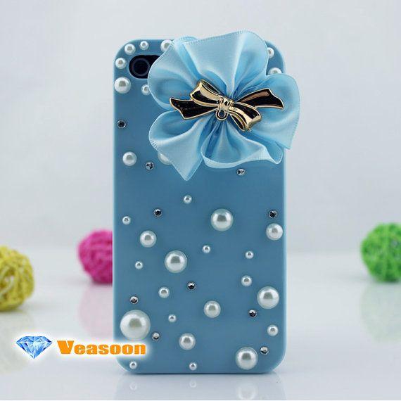 iphone 4 caseiphone 5 caseblue flower iphone caseblue by Veasoon, $19.99