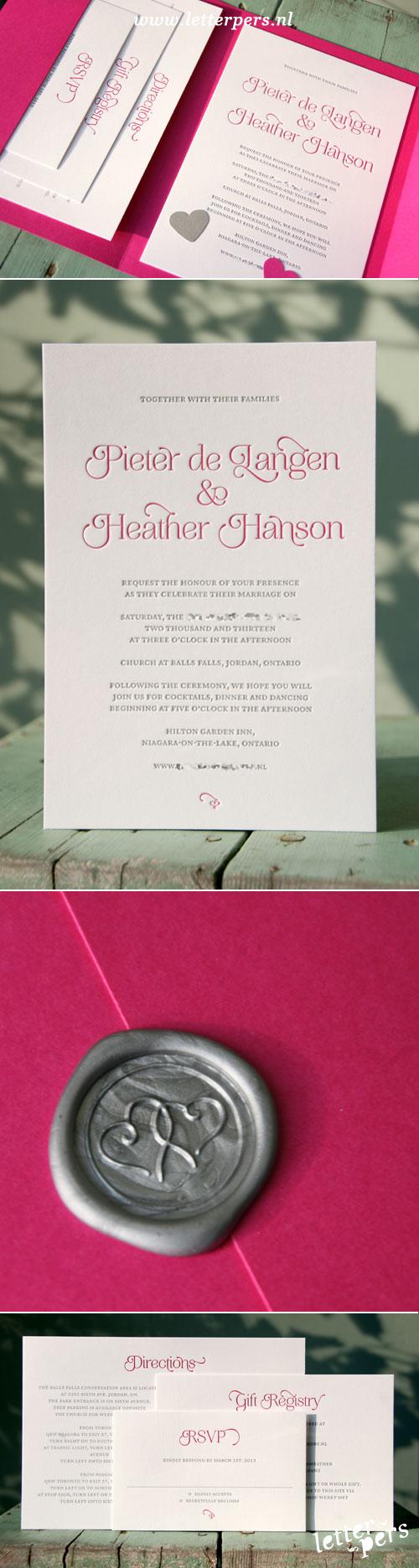 Pocketfold envelop trouwkaarten. www.letterlijn.nl   WEDDING ...