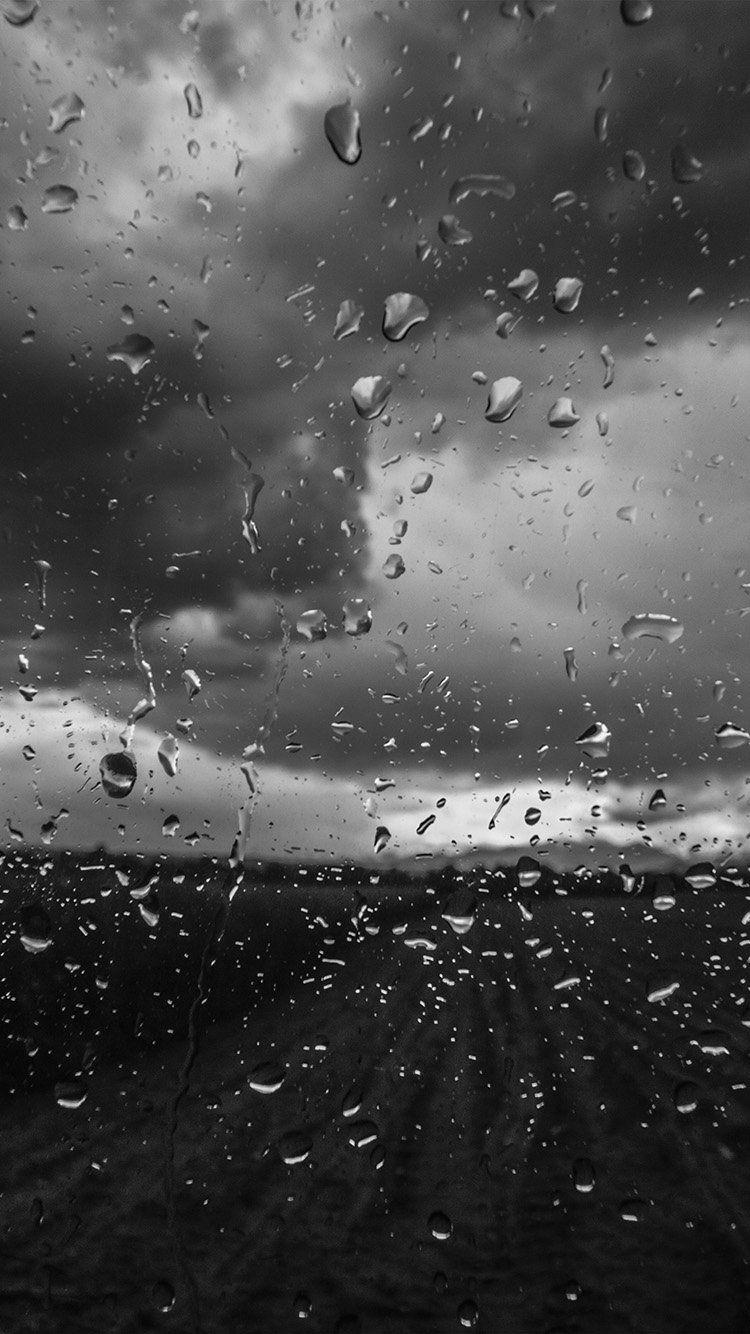 Mv92 Rainy Window Nature Water Drop Road Dark Bw Rainy Window Rainy Wallpaper Iphone Rainy Wallpaper