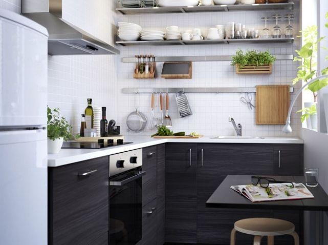 Petite Cuisine Avec rangements en hauteur Ikea Cuisine Pinterest - Hauteur Plan De Travail Cuisine Ikea