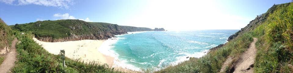 From The Minack Theatre looking towards The Logan Rock TREEN the beach is Porthcurno..so beautiful..