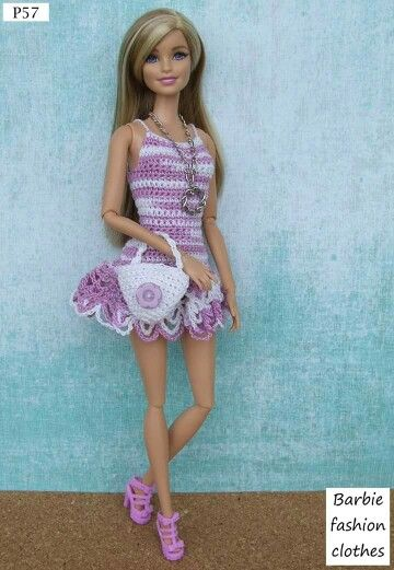Pin de Jean Roehlke en Crochet Barbie clothes | Pinterest | Barbie ...