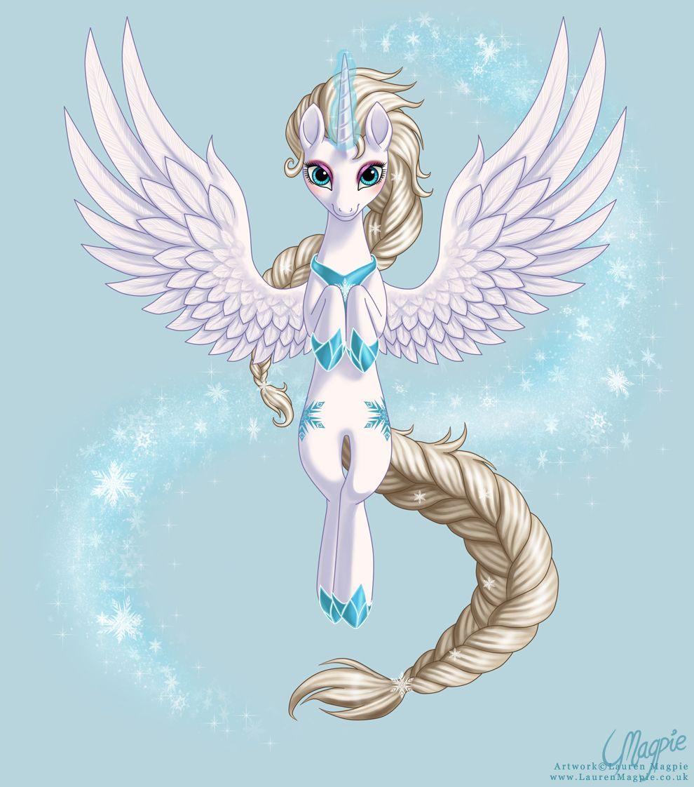 Queen Elsa the Alicorn by LaurenMagpie.deviantart.com on @deviantART