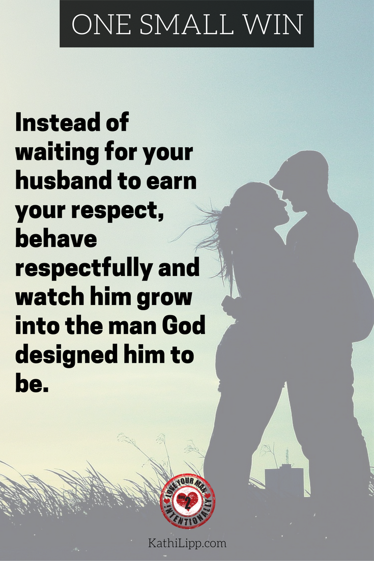 How to show your man you respect him