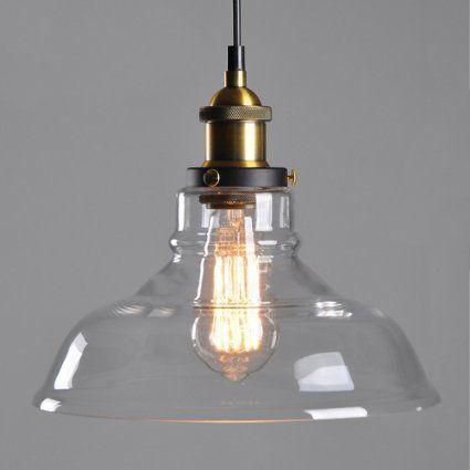 E27 De Vidrio Ambar De La Lampara De Techo De Montaje De Sombra Retro Del Lampen Vintage Lampen Retro