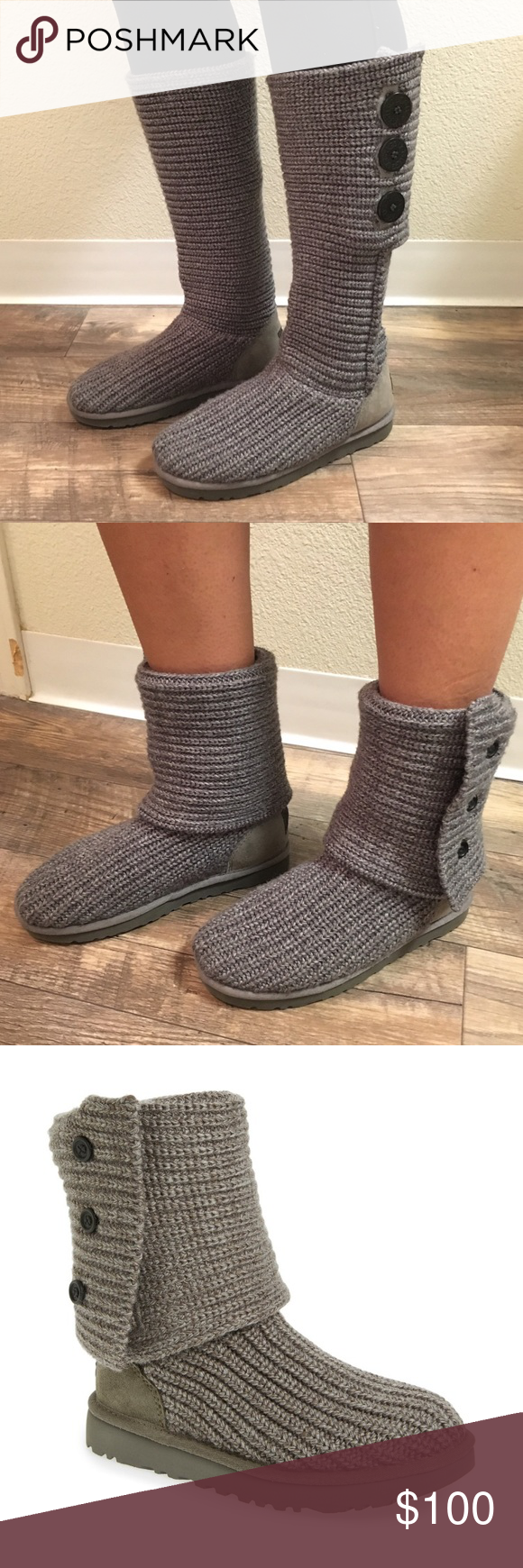 215b7e9cc4bb UGG Classic Cardy II Knit Boot A fan-favorite boot in a chunky sweater knit