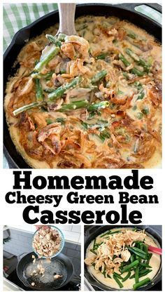 This is the BEST green bean casserole you will ever have! It's done with a homema ...