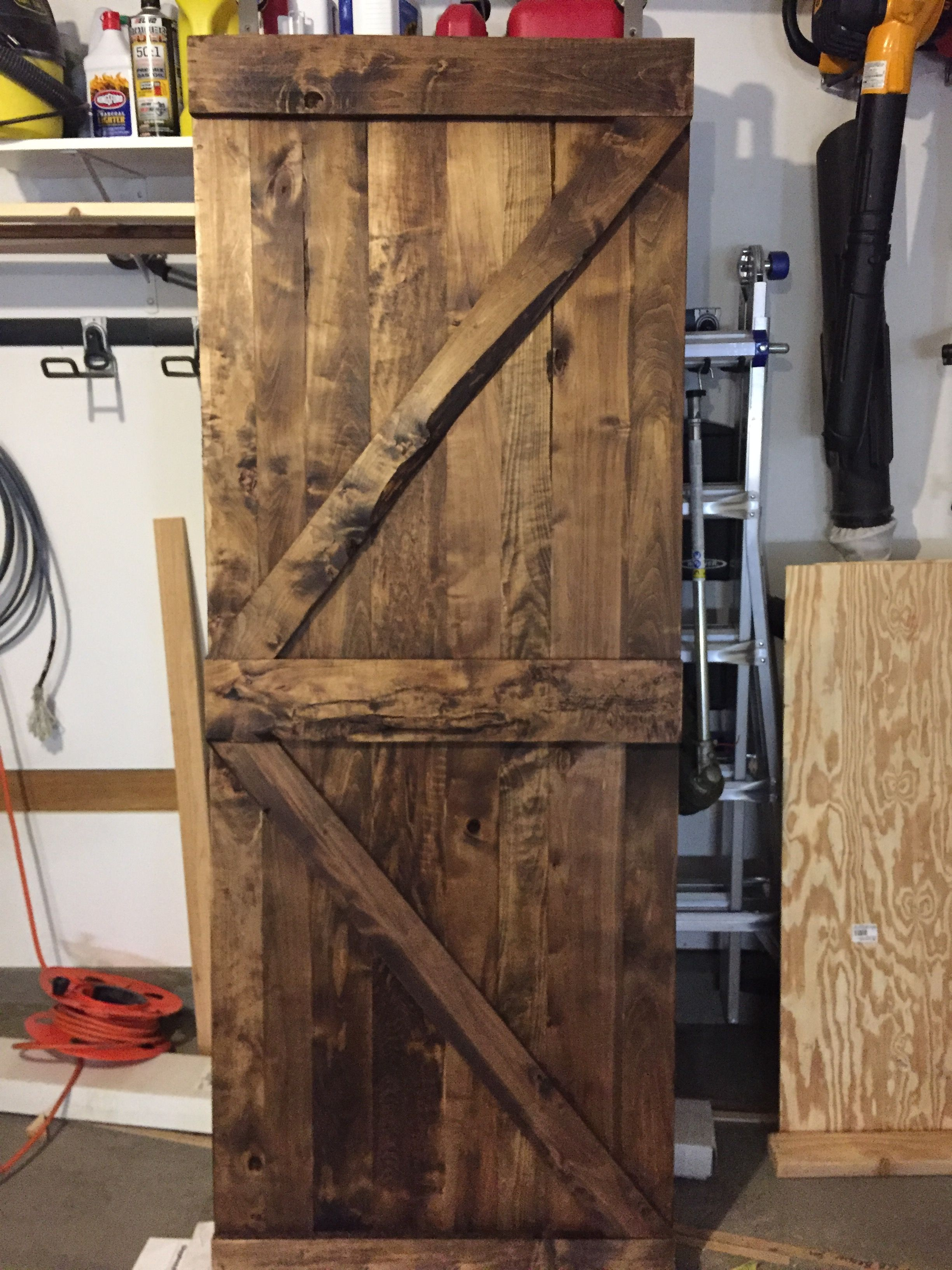 Maple Barn Door Stained With Danish Oil