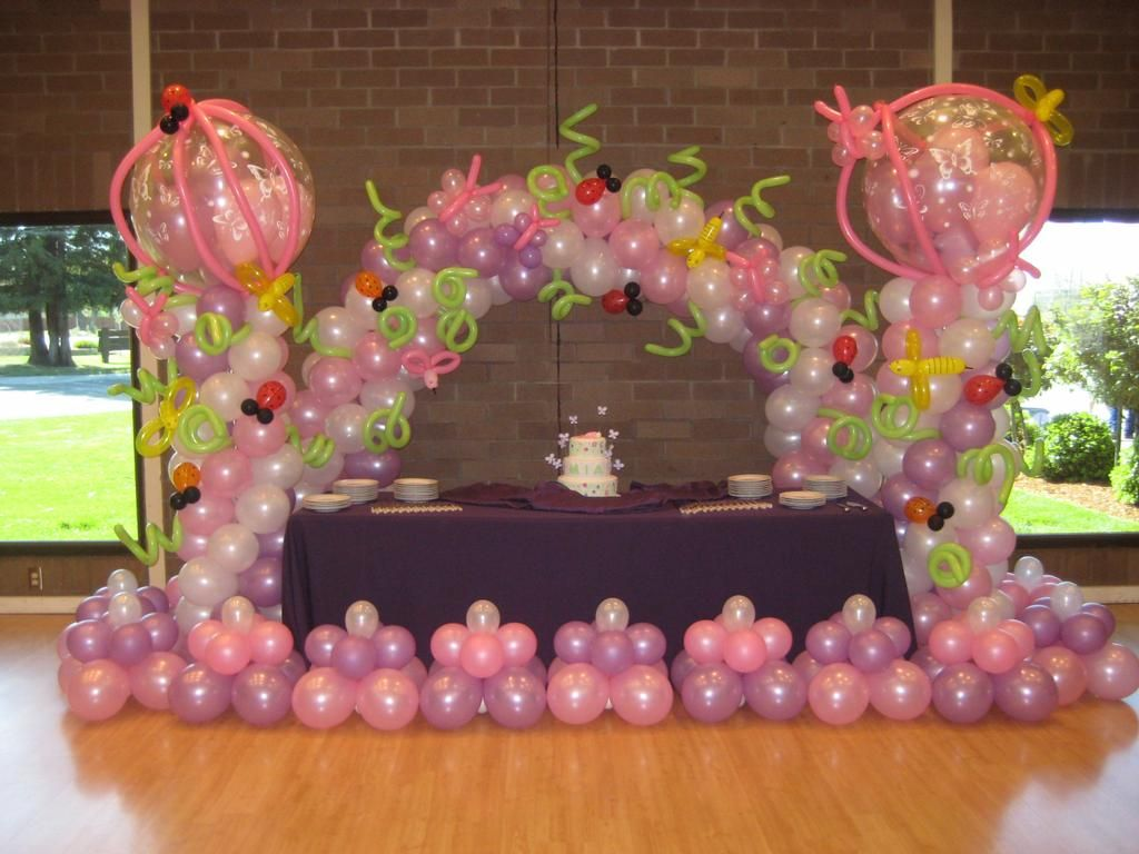 Balloon centerpieces for birthdays childs birthday for Balloon decoration for birthday at home