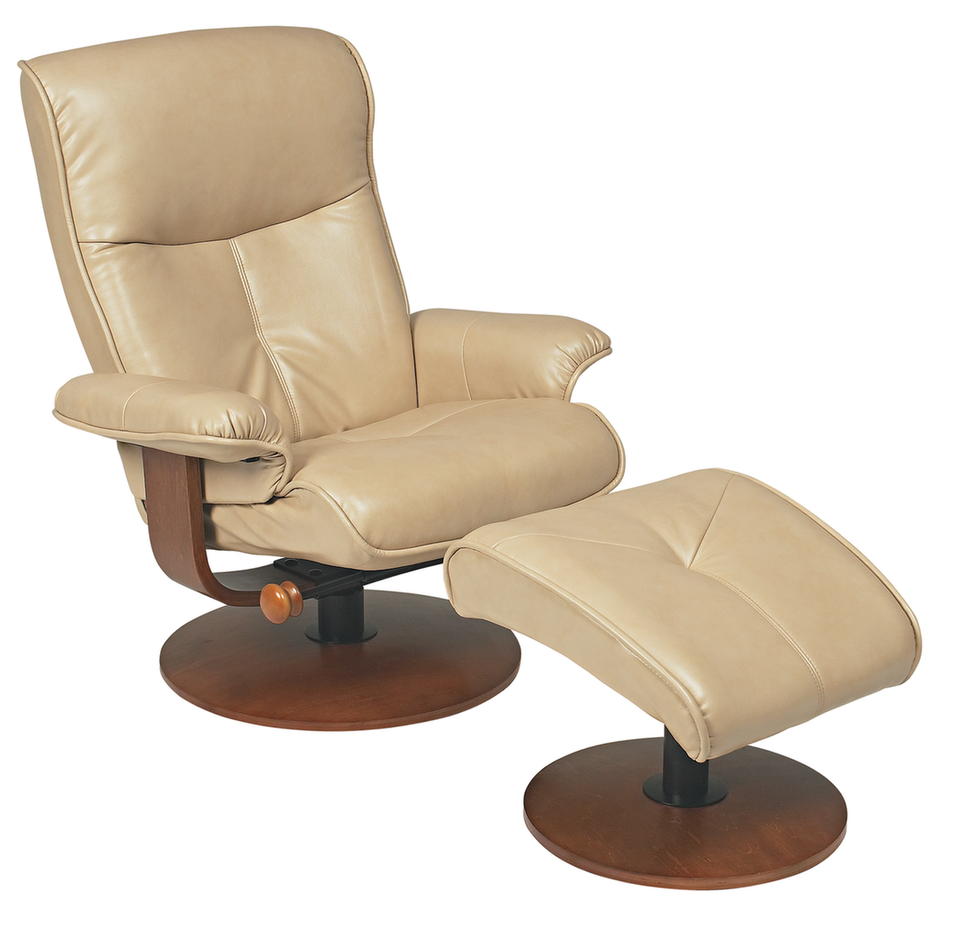 Nexus R 634 Series Duraleather Recliner And Ottoman By Stanley