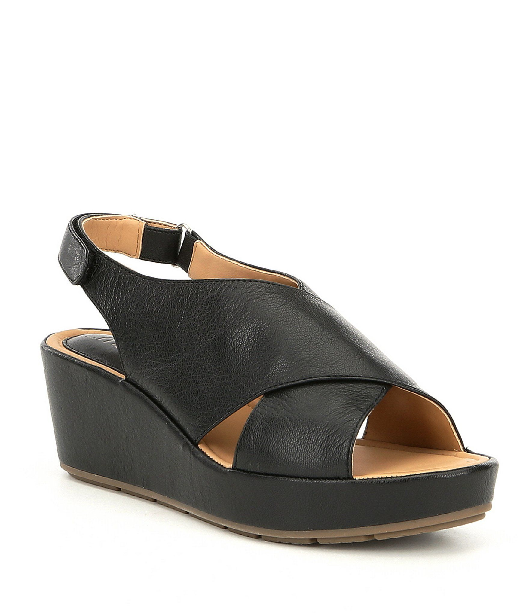 0217278da2 Me Too Arena Leather Wedge Sandals | 1-2 buckle my shoe | Wedge ...