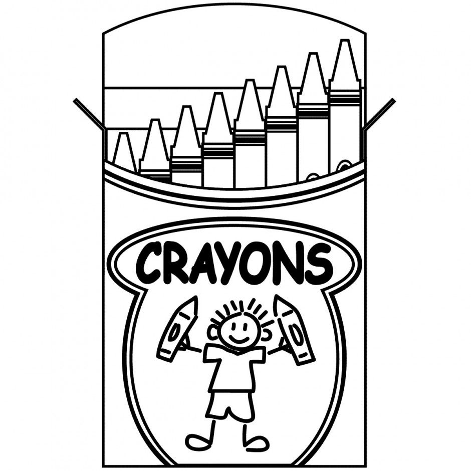 Crayon Coloring Pages To Print Everyone Knows Crayons We Often Use Crayons For Color In 2020 School Coloring Pages Kindergarten Coloring Pages Crayola Coloring Pages