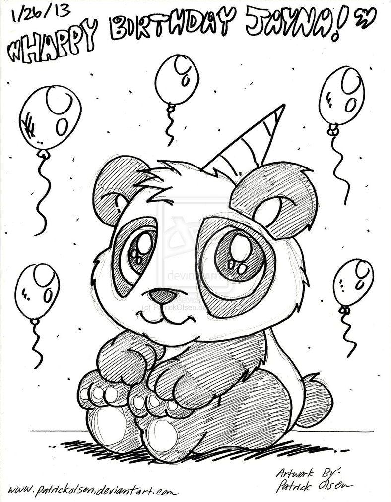 Перерисовывать рисунки на день рождения легкие