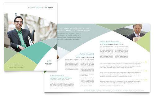 Financial Advisor  Brochure Template  Brochure Templates Ideas