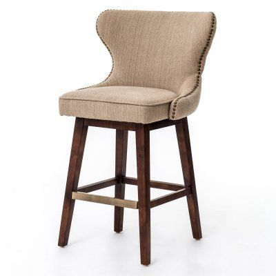 Marvelous Four Hands Julie 26 In Swivel Counter Stool Hyde Clay In Squirreltailoven Fun Painted Chair Ideas Images Squirreltailovenorg