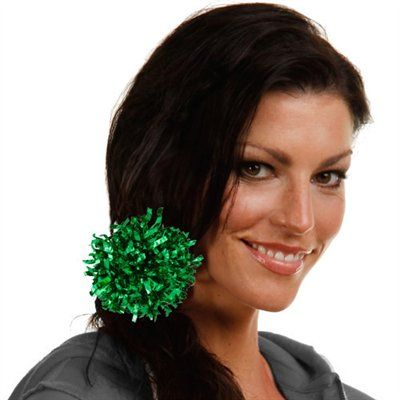 Green Mini-Mini Pom Ponytail Holder $6.95