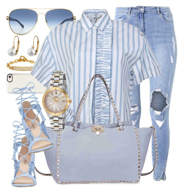 """""""Wake Up"""" by jomashop ❤ liked on Polyvore featuring Michael Kors, Casetify, MSGM, Valentino, Invicta and Blue"""