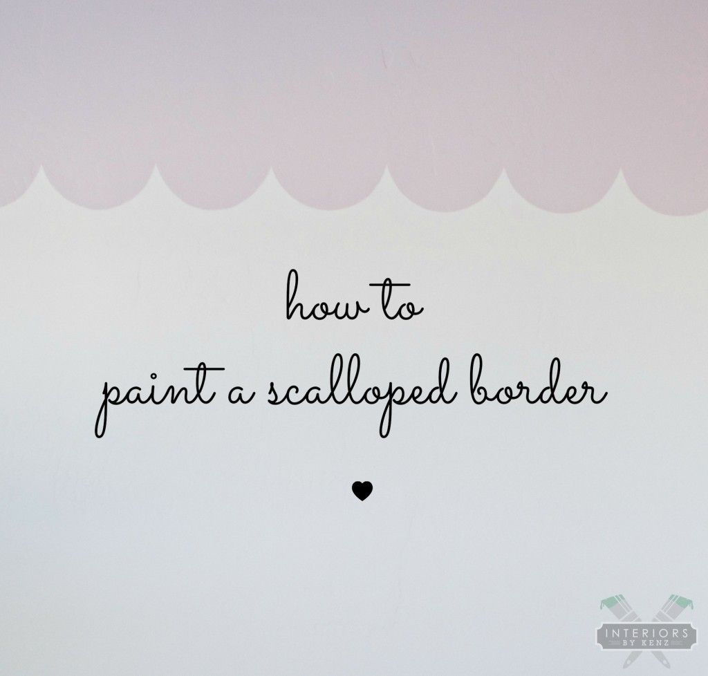 Best How To Paint A Scalloped Wall Border Wall Murals Bedroom 400 x 300