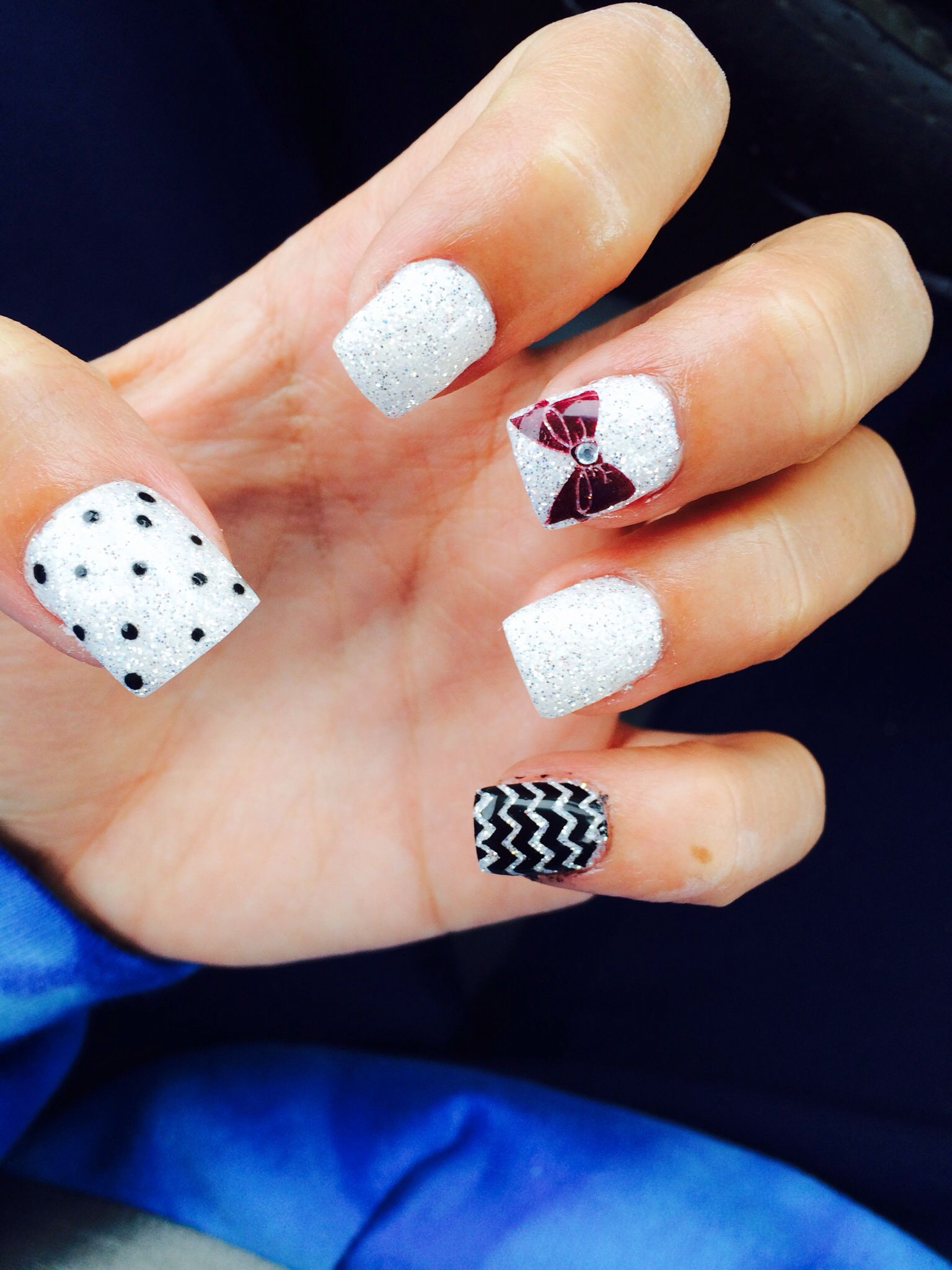Cute fall gel nails with bow