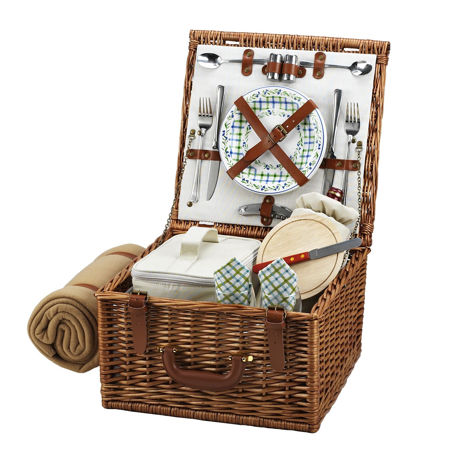 Picnic at Ascot Cheshire English-Style Willow Picnic Basket with ...