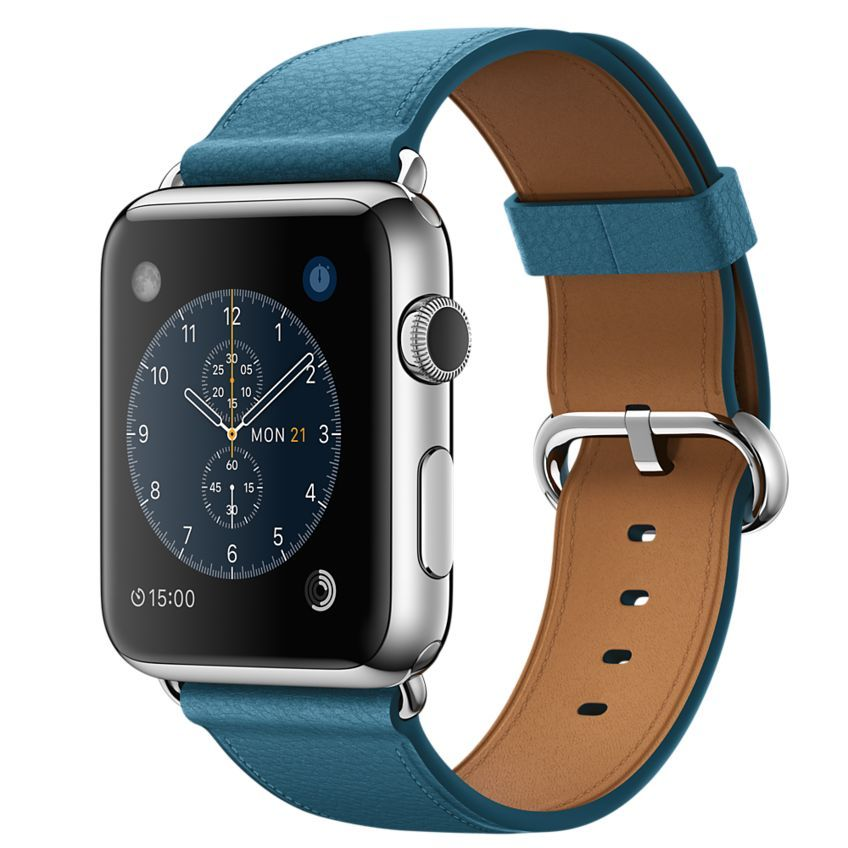 Apple Watch - 42mm Stainless Steel Case with Marine Blue