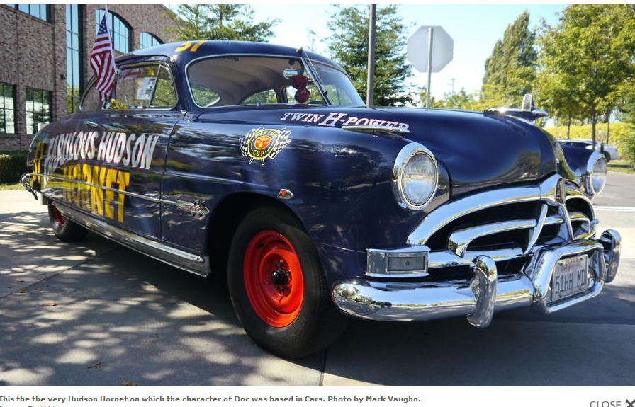 A real-life Doc Hudson Hornet from Disney/Pixar's