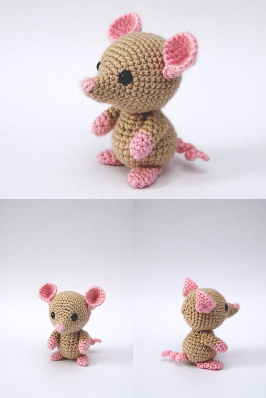 Baby Amigurumi Mouse-Crochet Mouse-Newborn Gift-Ha
